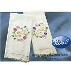 Embroidered Hand Towels - Set of 2