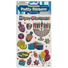 Hanukkah Puffy Stickers