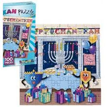 Square Hanukkah Jigsaw Puzzle - 100 PC