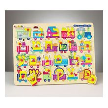 Aleph Bet Wood Puzzle
