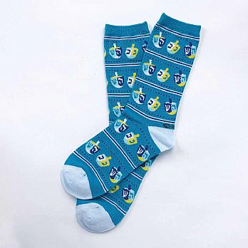 Hanukkah Design Fun Socks - Adult Size