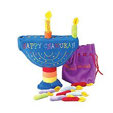 11 Piece Plush Menorah Set