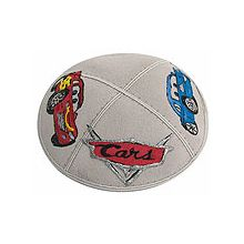 Cars Theme Suede Kippah with Optional Name