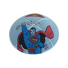 Superman Design Kippah with Optional Colors