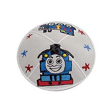 Puff Painted Suede Kippah - Thomas The Tank Engine