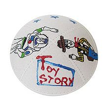Suede Toy Story Kippah in Optional Colors