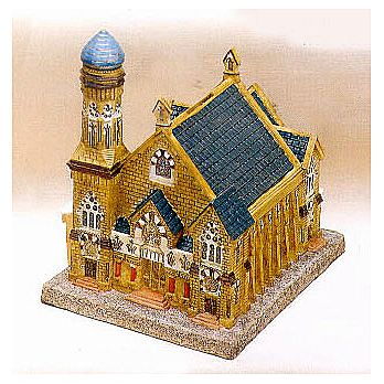 Replica Charity Box - Temple ''Rodeph Shalom'' PA