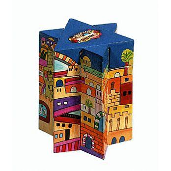 Star of David Crafted Charity Box - Jerusalem
