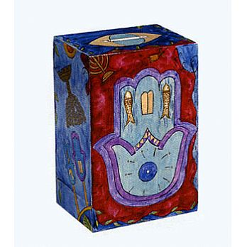 Wooden Charity Box - Hamsa