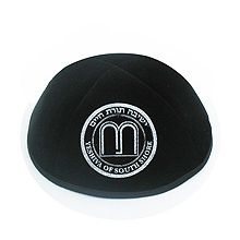 High Quality Velvet Kippot with Custom Personalization