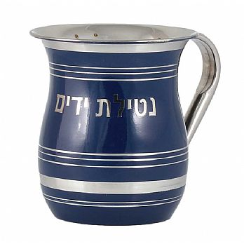 Stainless Steel Wash Cup with Color - Blue