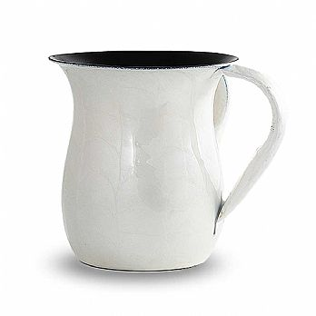 Enamel over Stainless Steel Wash Cup - White