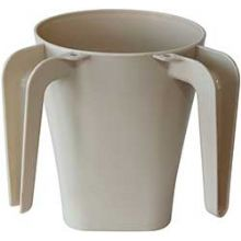 Beige Plastic Wash Cup
