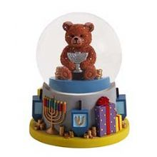 Hanukkah Water Globe with Bear