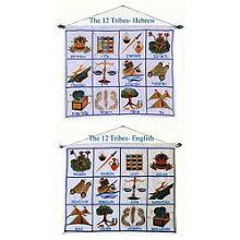 12 Tribes Embroidered Wall Hanging - Choshen