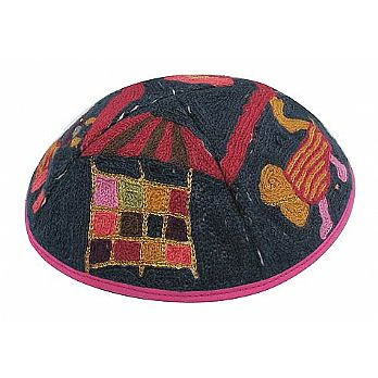 Luxurious Hand Embroidered Kippah - Choshen