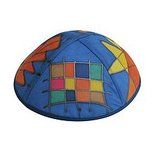 Hand Painted Kippot - Tribes in Color
