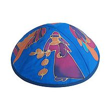 Hand Painted Kippot - Miriam & The Drum
