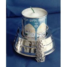 Sterling Silver Memorial Candle Holder