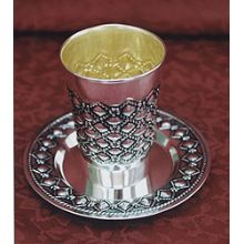 Sterling Silver Kiddush Cup Set - Bubbles