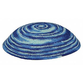 Bulk Knit Kippot - Scattered Blues