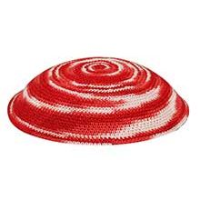 Bulk Knit Kippot - Red Tones