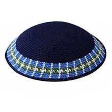 Supreme DMC Knit Kippot - Blue / Olive Green