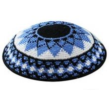 Supreme Quality DMC Knit Kippot - Sunflower