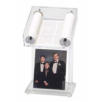 Acrylic Torah Display with Photo