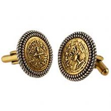 Brass and Pewter Ancient Coins Cufflinks