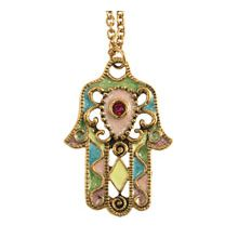 Jewled Hamsa Necklace