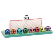Ceramic Soccer Ball Menorah