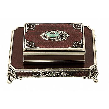 Fleur de lis Match Box Set - Grape/Silver