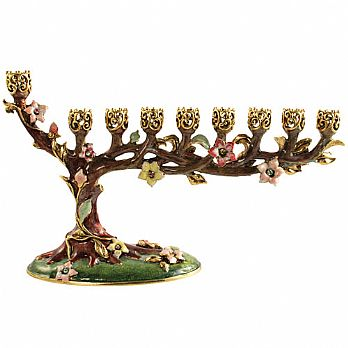 Stunning Bonsai Menorah - Colorful