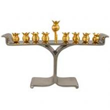 Pomegranate Multi Metal Menorah By Quest Collection
