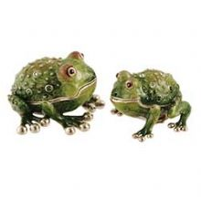 Collectors Frog Salt and Pepper Shaker - Swarovski Crystal