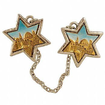 Tallit Clips Beautiful Jerusalem of Gold