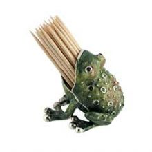 Collectors Frog Toothpick Holder - Swarovsky Crystal