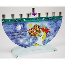 Woman of Valor Menorah by Tamara Baskin - Rose Bush