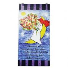 Fused Glass Tamara Baskin Woman of valor Wall Plaque
