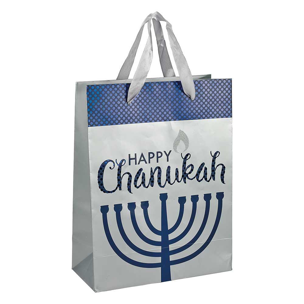 Gift Bag For Chanukkah With Elegant Decor