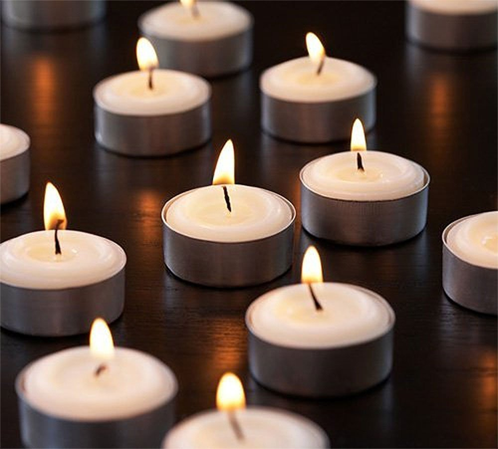 Tea Light Candles White Value Pack Of 120