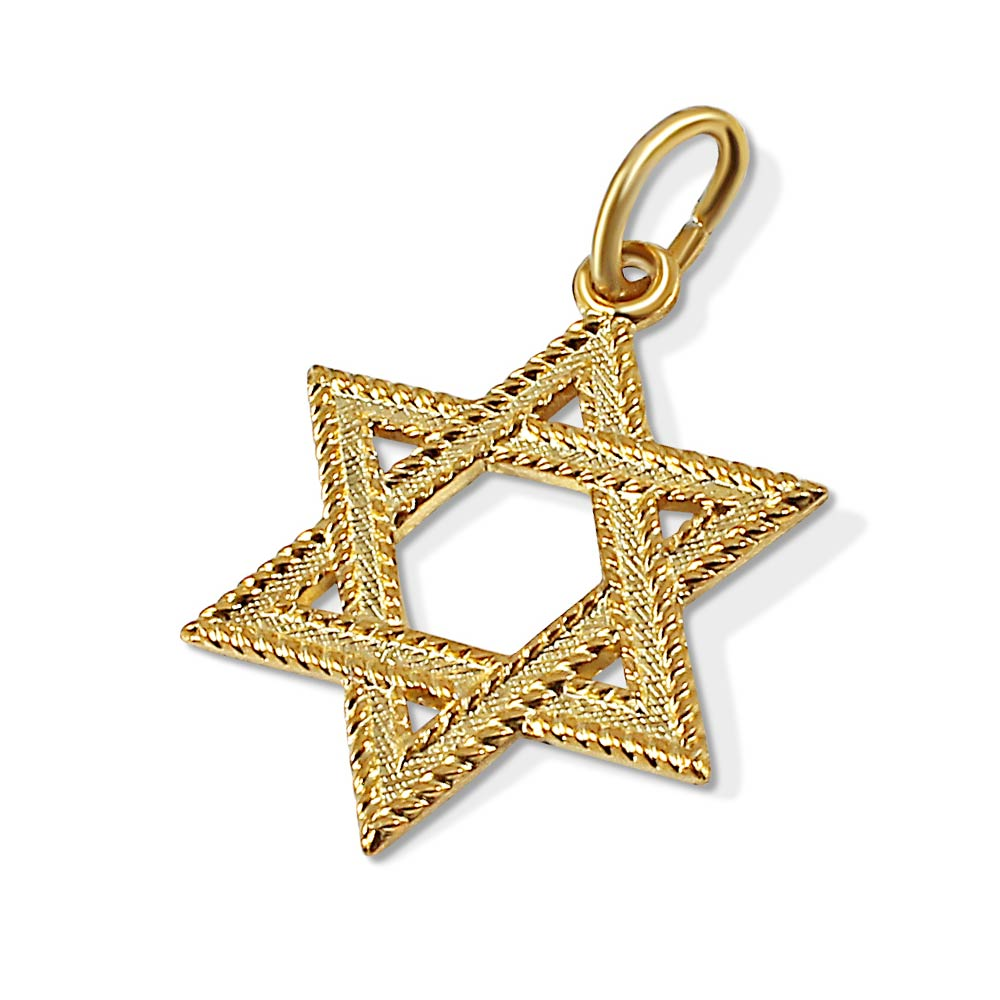 14k Gold Plated Star Of David Pendant