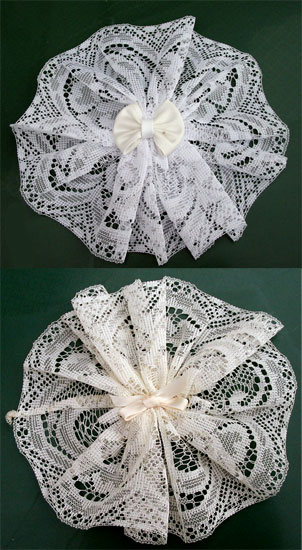 Women S Hair Cover Doily W Bow Amp Comb Head Coverings At