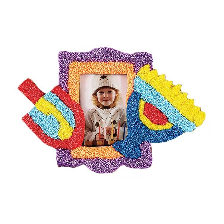 Hanukkah Putty Wood Frame for Kids Activities