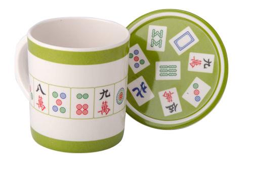 And Coaster Mug Melamine Coffee Mahjong fvgyY67Ib