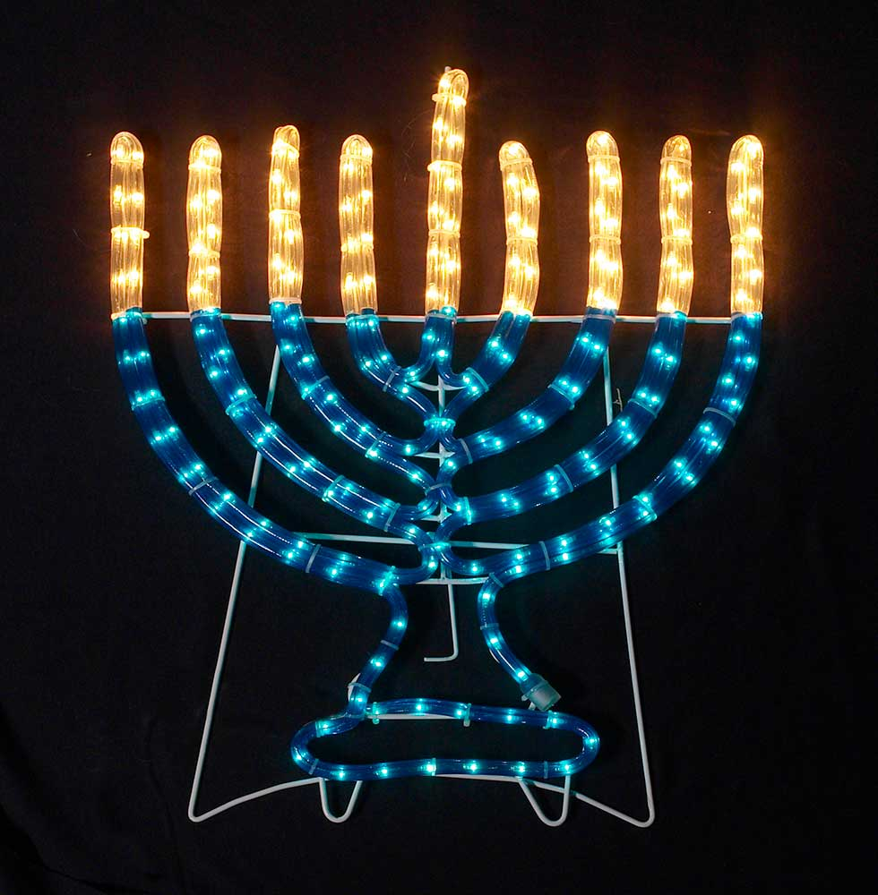 20 X 16 Lighted Rope Hanukkah Decor Indoor Outdoor
