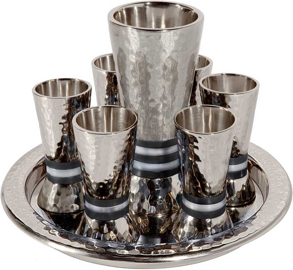 43d701c6f78 Kiddush Cup set By Emanuel, Cup + 6 small goblets + tray.