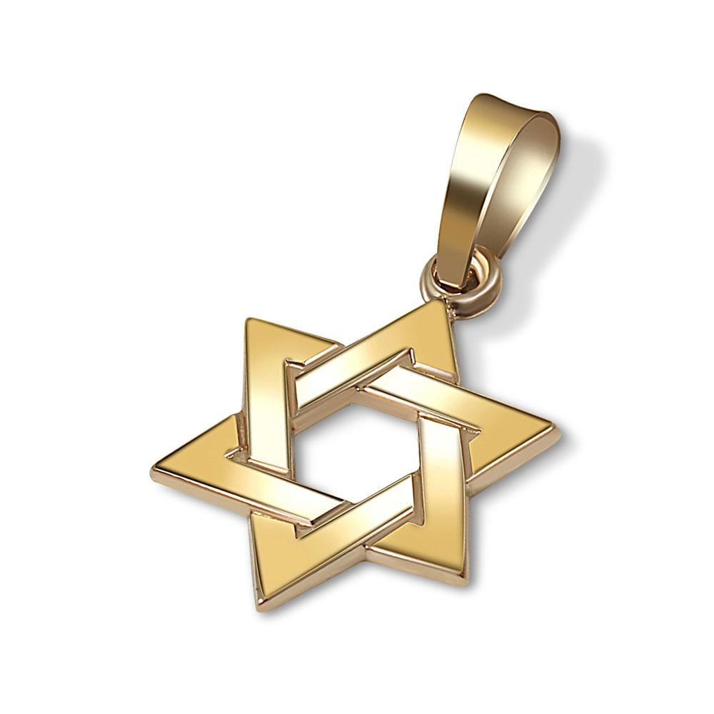 f9d2c62212911 14K Gold Small Star of David Pendant