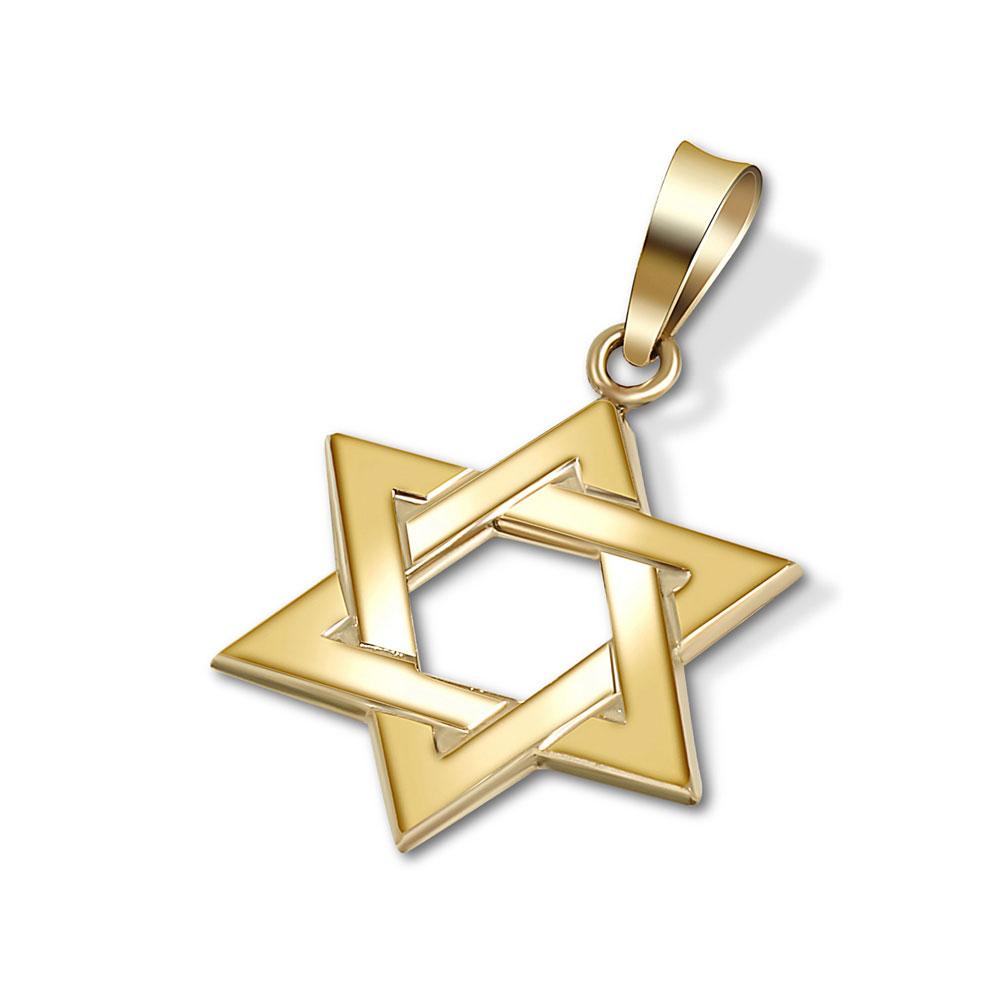 14k gold braided star of david pendant for Star of david jewelry wholesale